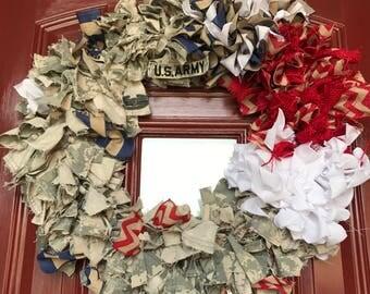 Custom Army ACU Deployment Wreath