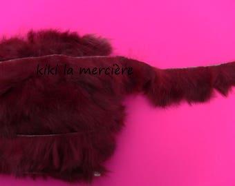fur rabbit skin, trim sold by the yard