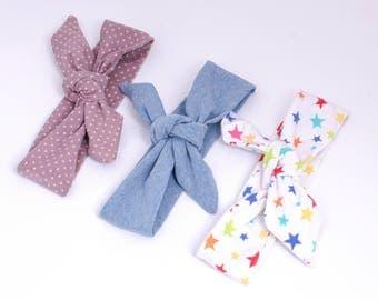 Chic baby/toddler headband hair cotton jersey set of 3