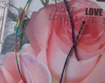 """Lucky lucky charm """"love"""" Navy Blue and multicolored cord Friendship Bracelet"""