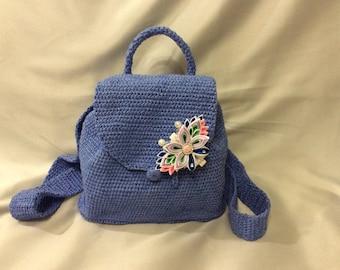 Handbag knitted crochet