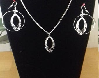Necklace and Earring Set diamond earrings