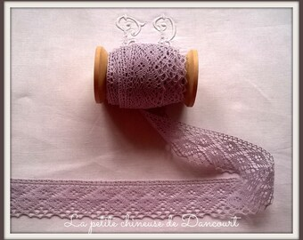 Purple cotton lace