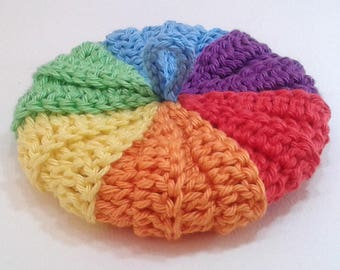 Cotton Tawashi Rainbow 9 cm