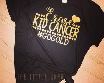 GO GOLD for Kids Cancer Awareness Tee