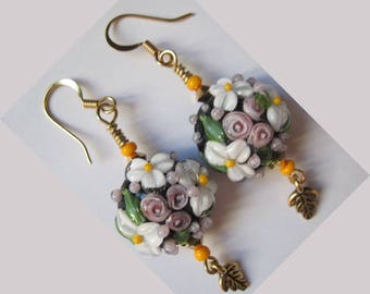 """Metal color gold Anti-allergiques """"Luxuriance"""" earrings"""