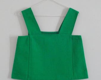 Green meadow cotton square neck sleeveless top
