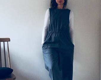 Grey cotton slip dress
