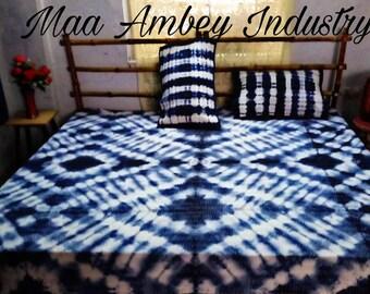 Tie dye handmade Kantha blanket