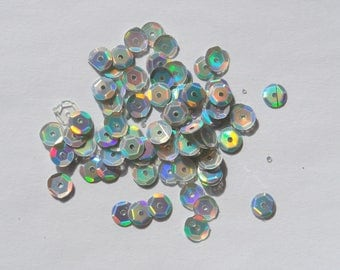 Sequins / white glitter frosted retail packs of 15