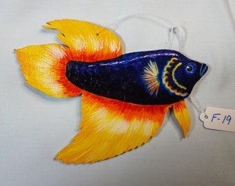 Siamese Fighting Fish Ornament, Betta Ornament, Siamese Fighting Fish gift, Betta gift, Unique Siamese Fighting Fish gift, Hand painted gift