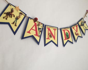 Toy Story birthday, Toy Story party, Toy Story banner, Toy Story birthday banner, first birthday, birthday banner