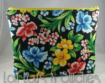 Zipper Pouch Floral 7x9