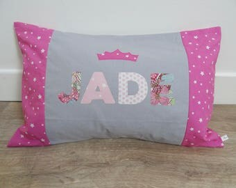 Custom pillows with grey and Pink
