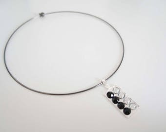Choker necklace with Rhinestones - Strassy