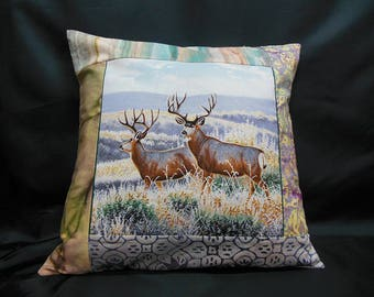 "Collection ""Indian summer"", square Cushion cover 2 deer (C302)"