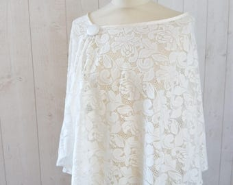 Cape, cape cloak, Bridal, wedding lace, ivory cape, capelet, Bridal Cape cloak