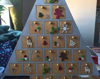 Christmas advent tree calendars