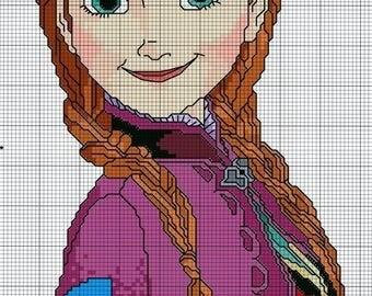a cartoon girl knitting pattern