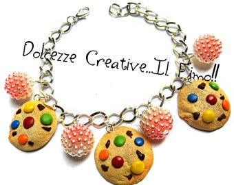 Cookie bracelet - cookies with sprinkles and colorful confetti - handmade - kawaii gift idea