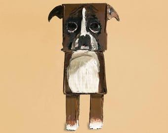 Boxer Dog Sadie - Standing