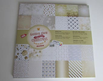 Happy holidays Christmas paper pad