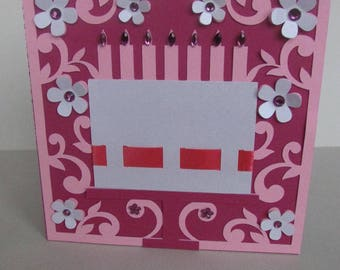Double birthday cake card