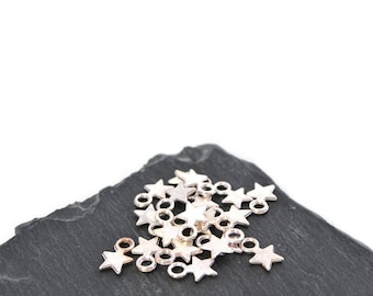 20 stars Silver clear 7 mm