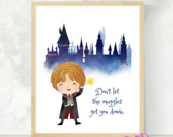 Ron Quote | Nursery Decor | Gender Neutral | Baby Shower Gift | Wizarding World | Printable Wall Art | Little Wizard | HP Print