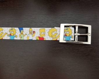 "1"" Simpsons Dog Collar"