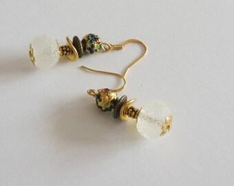 Beautiful earrings Lampwork and Murano glass