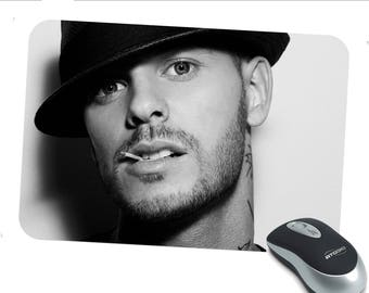 M Pokora personalized mouse pad