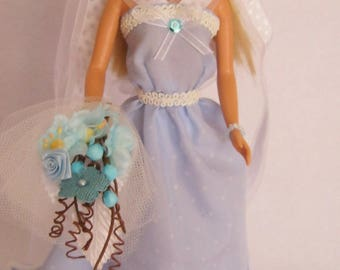 Blue dress for barbie (B98)