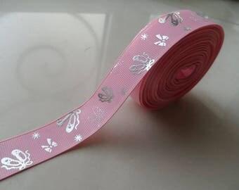 "180 cm Ribbon ""slippers dance"" 22 mm pink grosgrain scrapbooking"