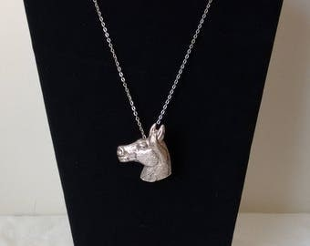 Vintage Silver Tone Horse Head Pendant/Pin