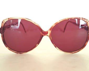 Retro brown 1980s bamboo-style sunglasses