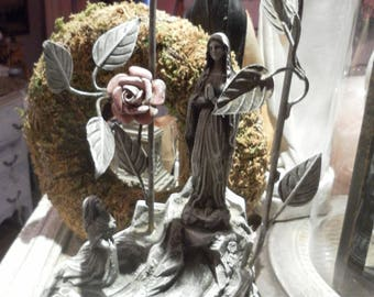 Statue our soul heavy spelter LCV shabby patina *.