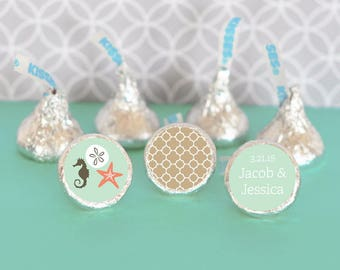 Under the Sea Hershey Kisses Stickers