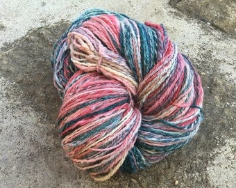 430 g wool ouessant pink/green