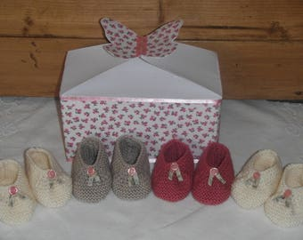 Four pairs of handmade shoes in their matching Butterfly box