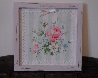 Frame shabby chic pink / floral decor