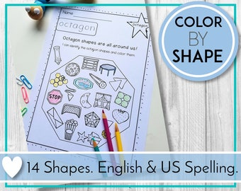 Teaching and Learning Activities, Colour by Shape, Fun Shapes Printables, Digital Education Resources for Preschool, Kindergarten