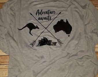 Land Down Under t-shirts  (adventure awaits)