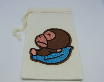 Monkey,Monkey Bag,Headphone Bag, Purse Pocket, Card Holder, Coin Pouch
