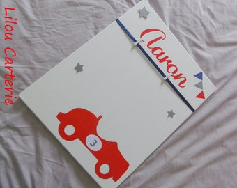 Table personalized baby & child boy car theme