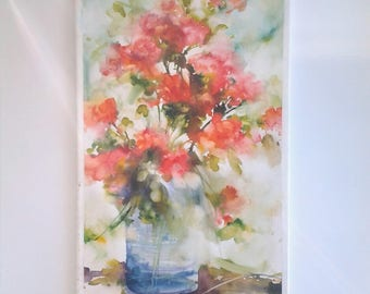 Watercolour Painting on canvas