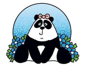 Marianne Design Panda new clear stamp