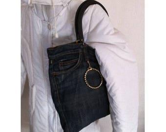 Waterproof lining zip by BAGART jean bag purse
