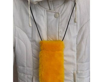 Fabric glasses case plush BAGART by yellow sunglasses case