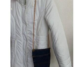 Bag pouch, Denim Blue jeans by BAGART jean denim clutch bag
